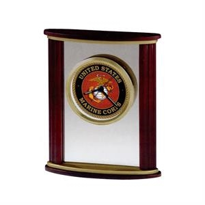 Victor - Wood And Glass Alarm Clock With Satin Rosewood Finished Sides And Custom Dial