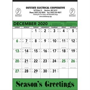 Green & Black Contractor Memo 2022 Calendar