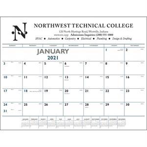 Blue & Black 2022 Desk Pad Calendar