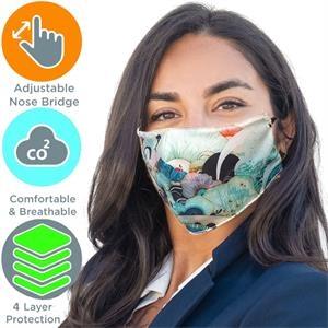 4-Layer Adjustable Face Masks Full Color Cotton Safety Mask