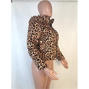 Leopard print coat Ladies jacket Sexy coat