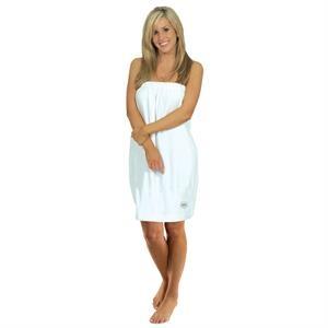 """28"""" USA Made Ladies Velour White Spa Wrap"""