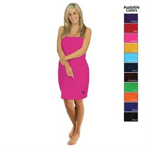"28"" USA Made Ladies Velour Color Spa Wrap"