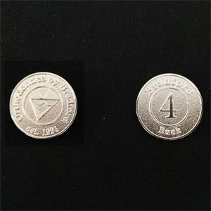 1.6inch dia. Round Metal Casino Chip Challenge Coin