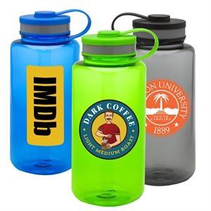 Wide Mouth Sports Bottles -38 oz Water Bottle w/ Custom Logo