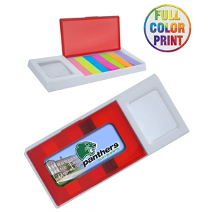 Sticky Notes Holder With Ruler & Magnifier
