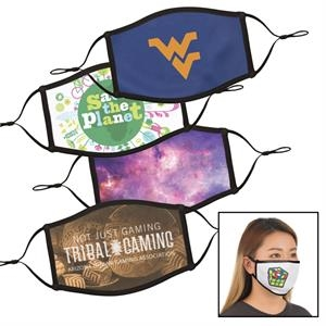 ON SALE! Full Color Dye Sublimation Face Mask - Small / Med