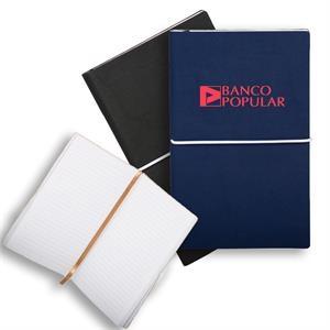 Softcover Notebook w/ Custom Imprint & Elastic Closing Band