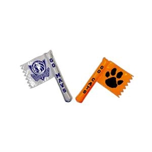 "Inflate-a-flag (tm) - Inflatable Sports Flag On A 14"" X 2.75"" Pole"