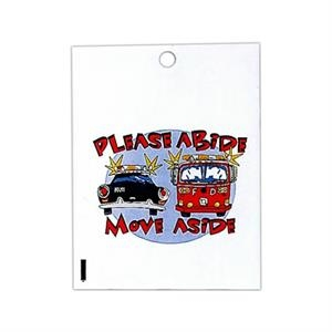 "2 Color - White Custom Printed Plastic Litter Bag, 9"" X 12"""