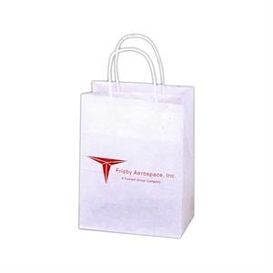 "Natural - 6 Working Days - Kraft Paper Shopping Bag With Twisted Paper Handles, 8"" X 4 3/4"" X 10 1/2"""