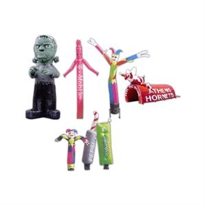 Sky Performers - Solid Colors - 20' To 25' - Dancing Figures, 8 To 10 Feet High, Made Of Nylon, For Parties And Special Events