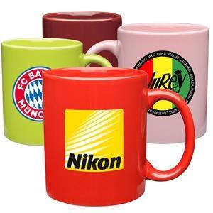 11 oz. Ecomomy Ceramic Mug - Coffee mugs, corporate gifts