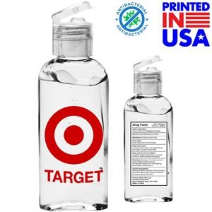 3.4 oz. Hand Sanitizer Gel w/ Custom Logo & Flip Cap