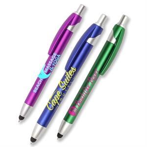Retractable Plastic Stylus Pens w/ Custom Logo Plastic Pen