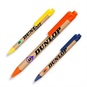 Recycled Pens w/ Custom Logo & Colorful Clip Ballpoint Pen