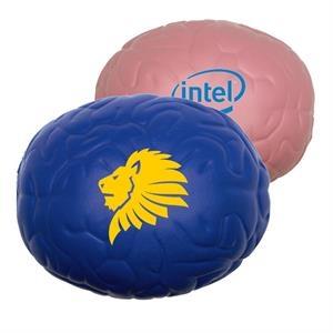 Brain Stress Ball w/ Custom Logo Textured PU Stress Reliever