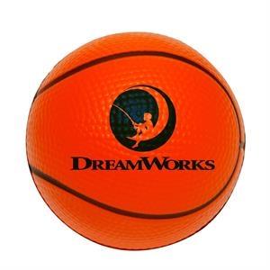 Basketball Stress Reliever w/Custom Logo PU Foam Stress Ball