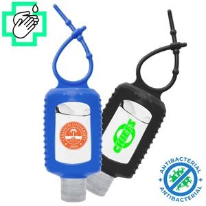 2 Oz. Gel Hand Sanitizers w/ Silicone Carabiner USA Printed