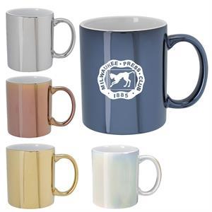Metallic Colored 12 oz Ceramic Mugs