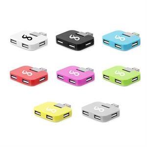 Portable 4-Port USB 2.0 Hub