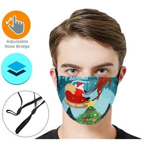 RUSH 2-Layer Face Mask w/ Full Color Logo Adjustable Masks