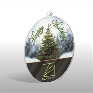 Acrylic Oval Ornament