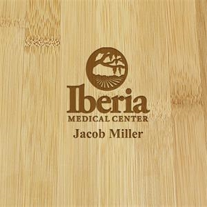 Personalized Bamboo Swivel Cheese Board with Knife Set