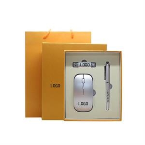 Business Gift Set Contains Wireless Mouse , Pen and 9GB USB