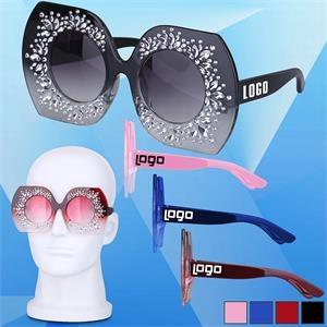 Fashion Sunglasses w/ Flower Design