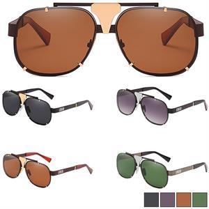 Checker Sunglasses w/ Colorful Lens