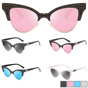Half Frame Sunglasses w/ Colorful Lens