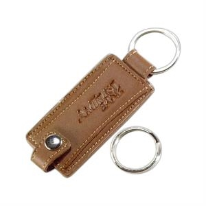 Concorde - English Tan - Cowhide Leather Vale Key Tag With Contrast Stitch