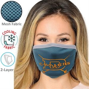 2-Layer Cooling Face Mask w/Screen Print Antibacterial Masks