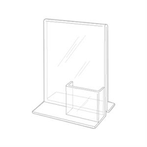 """8.5\""""w x 11\""""h Clear Combo Table Tent - Ad Frame"""