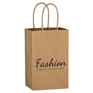 "5-1/4"" x 8- 1/4"" Kraft Paper Bag"