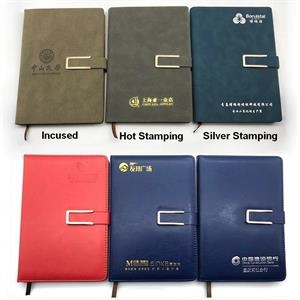 A5 Pu Leather Notebook Student Notebook With Pen Holder