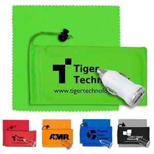 Mobile Tech Auto Accessory Kit in Microfiber Cinch Pouch