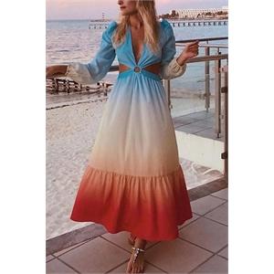 Bohemian Sexy Gradient Dress