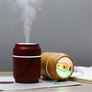 LED Light Jar Shaped Wood Grain Humidifier