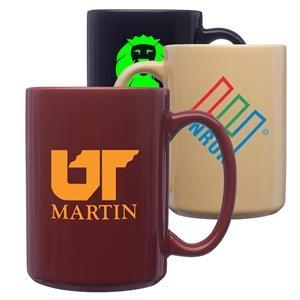 15 oz Large Coffee Mug w/Custom Imprint Classic Ceramic Mugs