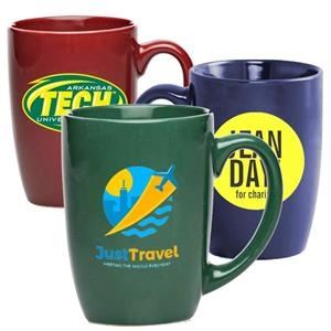 16 oz Large Coffee Mug w/ Custom Logo Glossy Ceramic Mugs