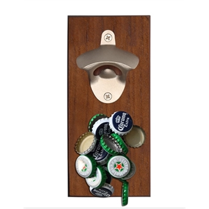 Bottle Opener Board with Magnetic Cap Catcher, Full Color