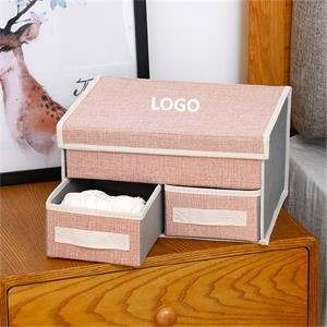 Foldable Double-layer Drawer Storage Box