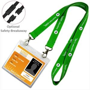 Open Ended Combo Polyester Lanyard w/ Badge Holder Lanyards