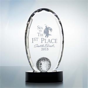 Golf Tournament Crystal Award