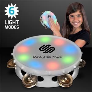 """5"""" Light Up Round Tambourine Toy"""