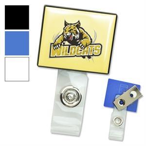 Square LogoClip™ Strap Clip Badge Holders