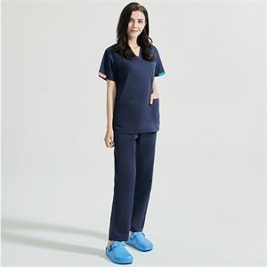 Nursinguniforms medical workwear V-neck sets tops+pants