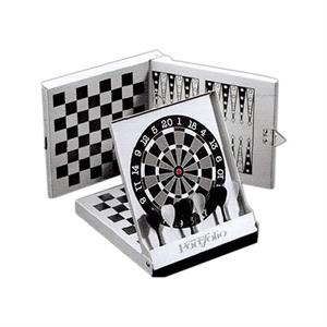 Three-in-one-magnetic Game, Features Backgammon. Checkers And Darts
